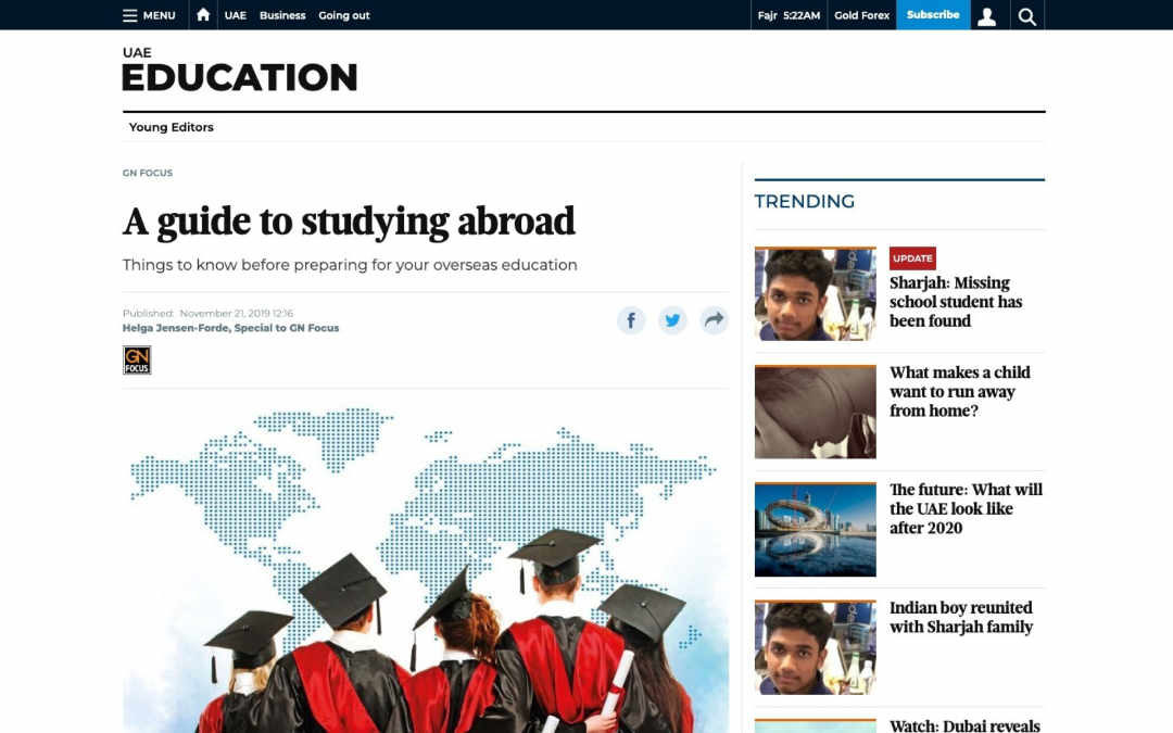 Gulf News: A guide to studying abroad