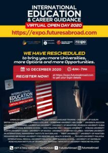 International Education and Career Guidance - Virtual Open Day 2020 - 10Dec